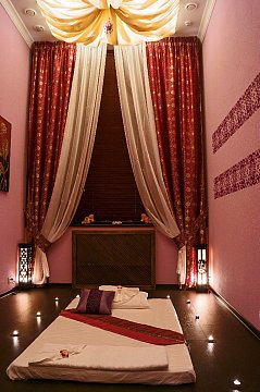 Интерьер спа салона тайского массажа Вай Тай Куркино