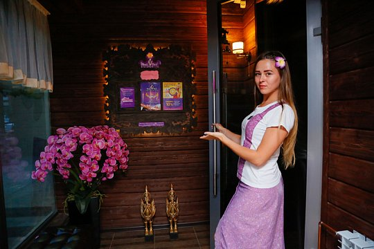 Интерьер спа салона тайского массажа Вай Тай Иркутск