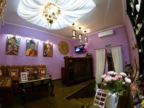 Интерьер спа салона тайского массажа Вай Тай Марьино